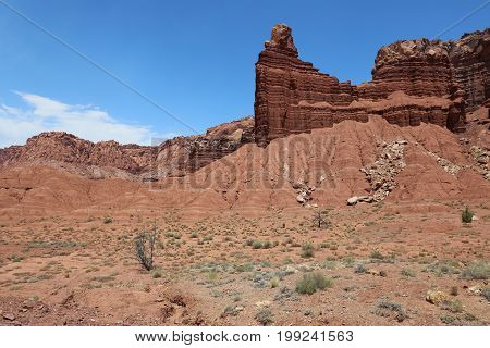 Rock Formation in Capitol Reef National Park. Utah. USA