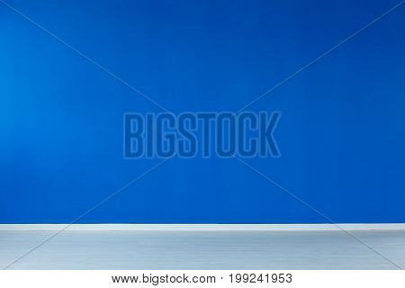 Empty Interior With Blue Wall