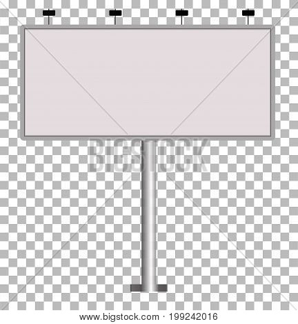 Blank big billboard Blank Outdoor Billboard with Place for Message. mockup for your advertisement and design.