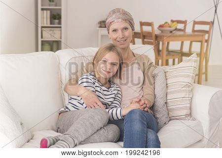 Woman With Leukemia With Daughter