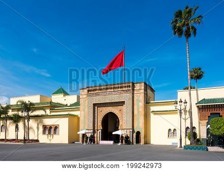 Entrance gate of the Royal Palace in Rabat Rabat-Salé-Zemmour-Zaer Morocco Maghreb Africa