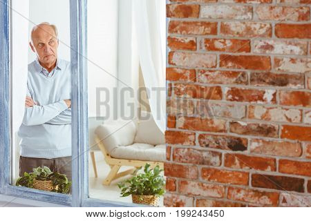 Angry Man With Crossed Arms