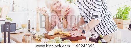 Senior Cooking Together