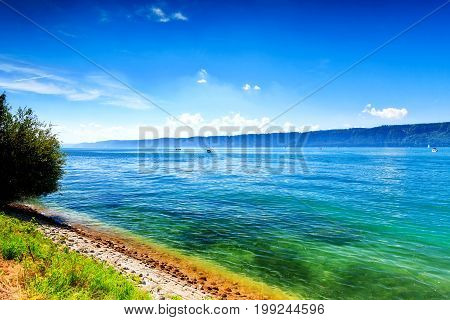 Beautiful panorama at Lake Constance (Bodensee) Europe Germany
