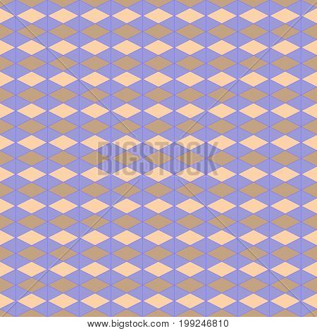 Rhombus pastel on lilac background. Fashion graphic background design. Modern stylish abstract texture. Colorful template for prints textiles wrapping wallpaper website etc. Vector illustration