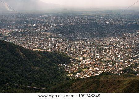 Aerial View of Rio de Janeiro Working Class Areas Bangu, Realengo, Padre Miguel