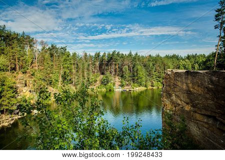 quarry swimming hole, amazing view. Quarry Water Nature Landscape