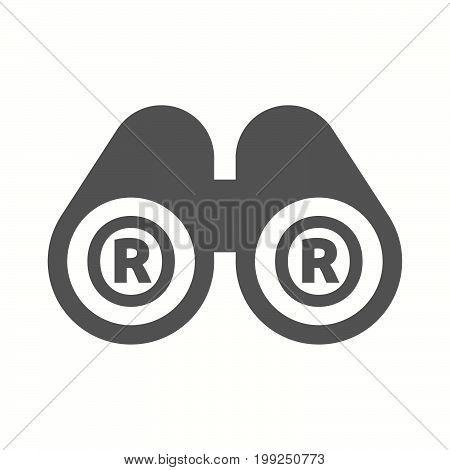 Isolated Binoculars With    The Registered Trademark Symbol