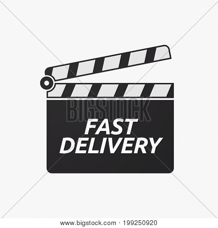 Isolated Clapper Board With  The Text Fast Delivery