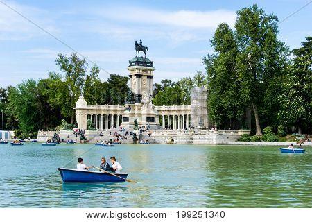 MADRID, SPAIN - April 20, 2017: Monumento Alfonso XII Madrid