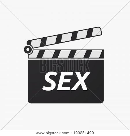 Isolated Clapper Board With    The Text Sex