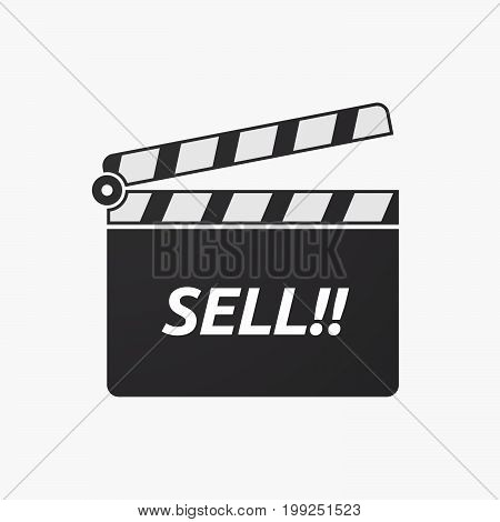 Isolated Clapper Board With    The Text Sell!!