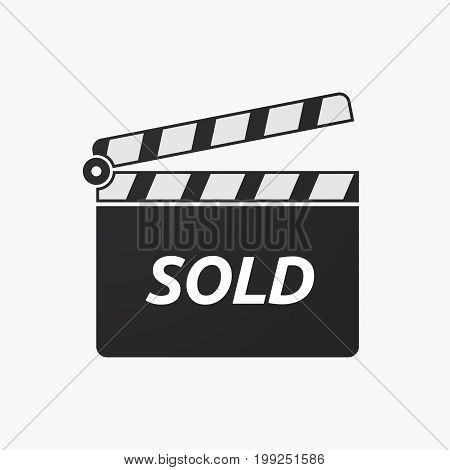 Isolated Clapper Board With    The Text Sold
