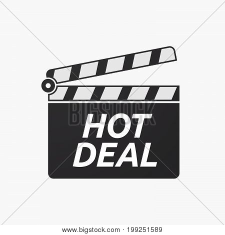 Isolated Clapper Board With    The Text Hot Deal