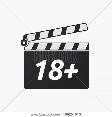 Isolated Clapper Board With    The Text 18+
