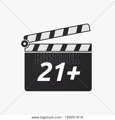 Isolated Clapper Board With    The Text 21+