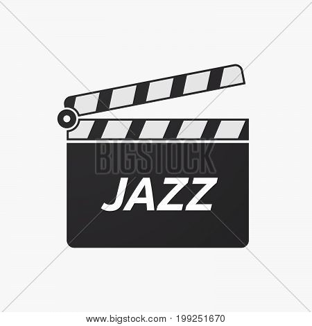 Isolated Clapper Board With    The Text Jazz