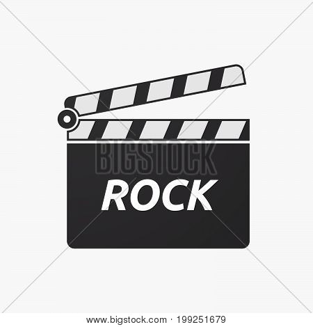 Isolated Clapper Board With    The Text Rock