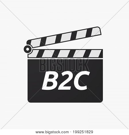 Isolated Clapper Board With    The Text B2C