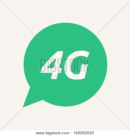 Isolated Speech Balloon With    The Text 4G