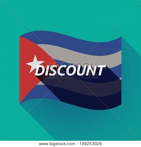 Long Shadow Cuba Flag With    The Text Discount