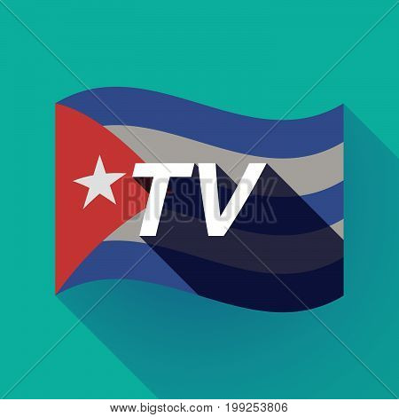 Long Shadow Cuba Flag With    The Text Tv
