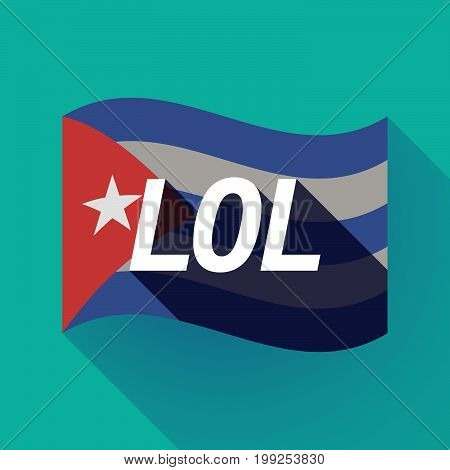 Long Shadow Cuba Flag With    The Text Lol