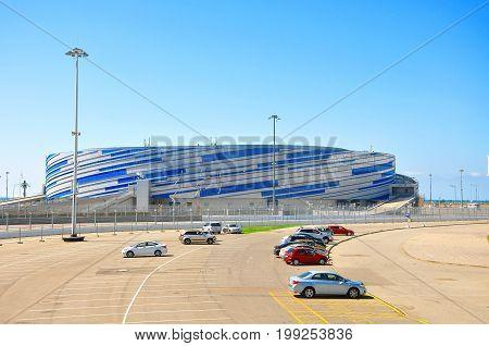 Sochi, Russia - July 11 2017 Sochi Olympic Park, Ice Palace Puck