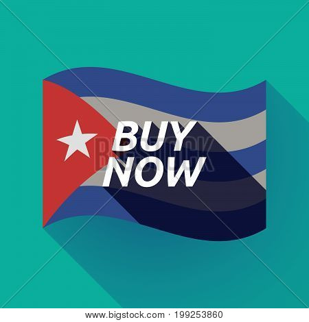 Long Shadow Cuba Flag With    The Text Buy Now