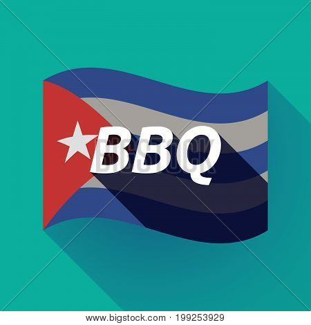 Long Shadow Cuba Flag With    The Text Bbq