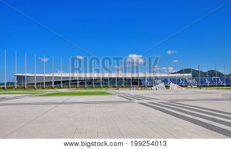 Russia - July 11 2017 Sochi Olympic Park.Tennis academy