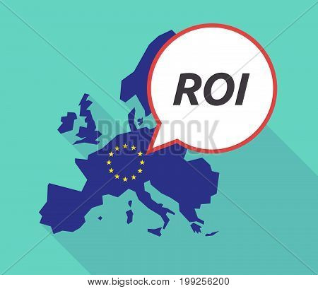 Long Shadow Eu Map With    The Return Of Investment Acronym Roi