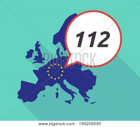Long Shadow Eu Map With    The Text 112