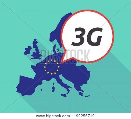Long Shadow Eu Map With    The Text 3G