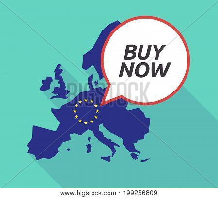 Long Shadow Eu Map With    The Text Buy Now