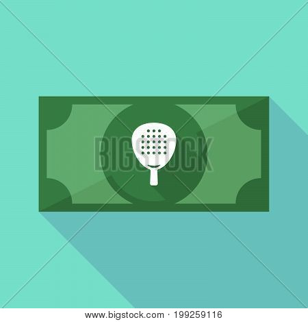 Long Shadow Bank Note With  A Paddle Racket