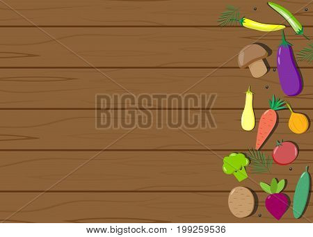 Vegetables wooden board text, lettuce, vitamin, creative, traditional, plant