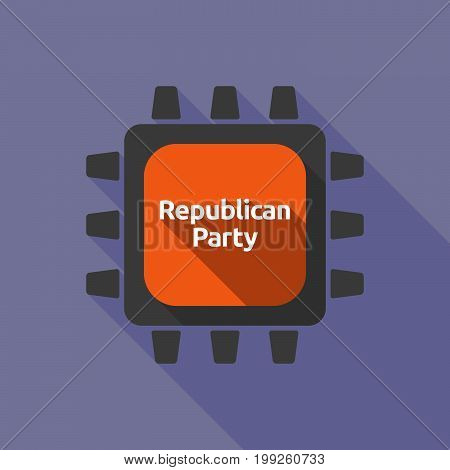 Long Shadow Cpu With  The Text  Republican  Party