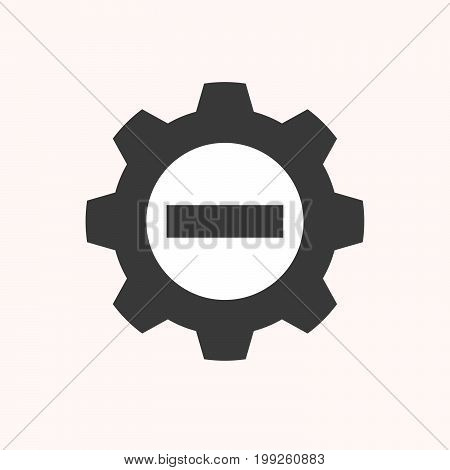 Isolated Gear With  A No Trespassing Signal