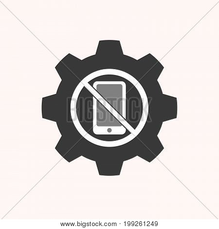 Isolated Gear With  A Phone  In A Not Allowed Signal
