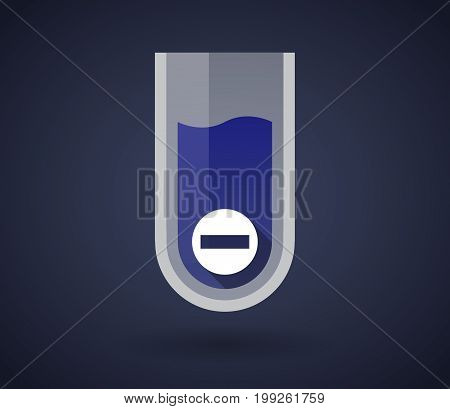 Chemical Test Tube With  A No Trespassing Signal