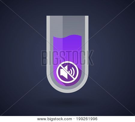 Chemical Test Tube With  A Speaker  In A Not Allowed Signal