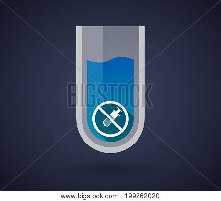 Chemical Test Tube With  A Syringe  In A Not Allowed Signal