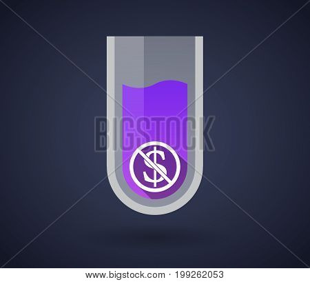 Chemical Test Tube With  A Dollar Sign  In A Not Allowed Signal