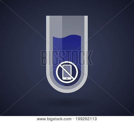 Chemical Test Tube With  A Phone  In A Not Allowed Signal