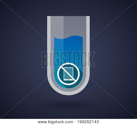 Chemical Test Tube With  A Tablet Pc  In A Not Allowed Signal