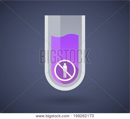 Chemical Test Tube With  A Male Pictogram  In A Not Allowed Signal