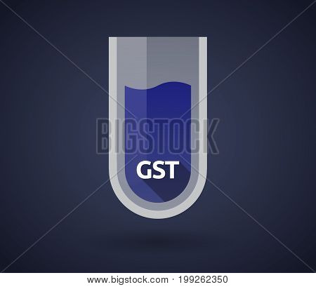 Chemical Test Tube With  The Goods And Service Tax Acronym Gst