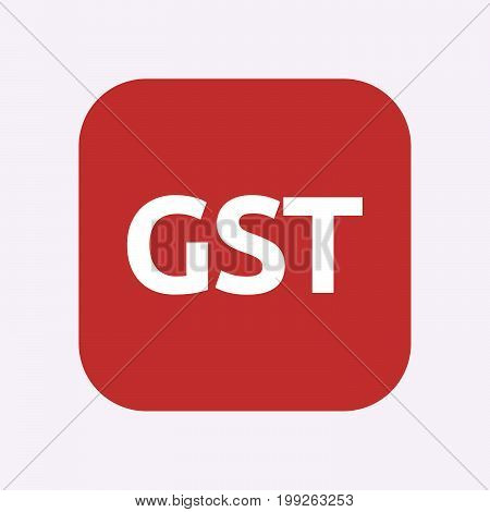 Isolated Button With  The Goods And Service Tax Acronym Gst