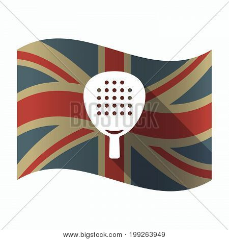 Isolated Uk Flag With  A Paddle Racket